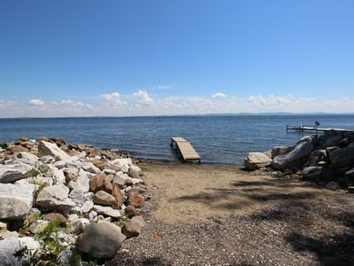 Photo for Lakefront getaway near private beach and park, state boat launch and dock nearby