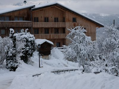 Photo for Modern Apt on the slopes, overlooking the Mont Blanc