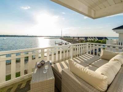 Photo for Exclusive house close to the beach with stunning views Schlei, Baltic Sea and sailing and marina of the Baltic Sea resorts - Three terraces on three levels - large Finnish sauna, corner spa and fireplace