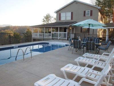 Photo for Private Heated Pool with Breathtaking Views! 4 Bed/4 Bath