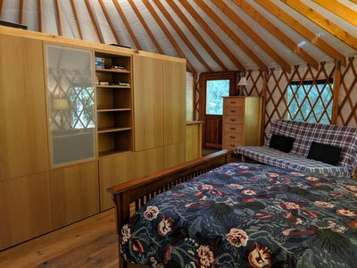 Photo for Peaceful Luxury Yurt on the river.