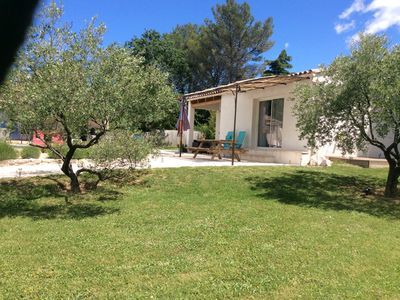 "Photo for Cottage ""La Picholine"" in a quiet area of ​​4000m2 with views of the Cevennes"