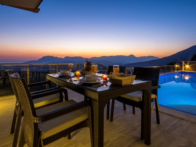 Photo for Secluded Honeymoon Villa with Heated Indoor Pool and Panoramic View