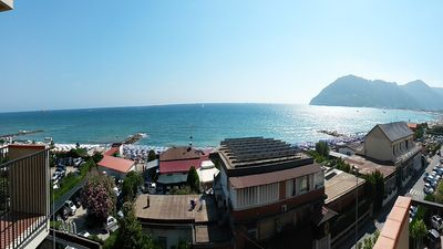 Photo for Apartment overlooking the sea 50 meters beach Liguria Marinella Sarzana 4/5 persons