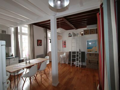 Photo for Beautiful appt T2bis with large terrace, close to the beach, Halls