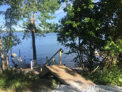 Photo for Year Round Lakeview Cottage with private dock on Lake Champlain