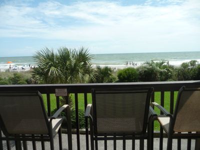 Photo for Beach Paradise Right Outside Your Balcony...You Can't Get Any Closer!!