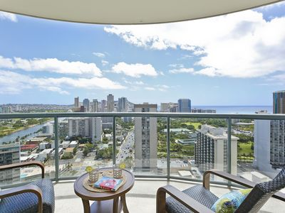 Photo for Partial Ocean / Diamond Head Views + Fitness Center!