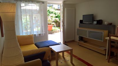 Photo for Central + quiet: cheap apartment for small families, 1 bedroom, wheelchair poss.