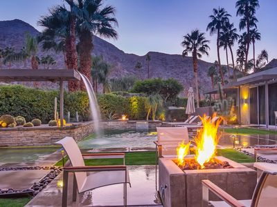 Photo for Indian Wells Country Club: Panoramic Mountain View / Pool with waterfall
