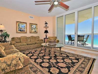 Photo for 4-bedroom beachfront condo w/wrap-around private balcony!
