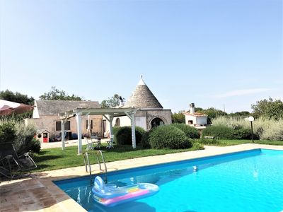 Photo for Trullo Rampone, trulli villa with private panoramic pool, garden, Wi-Fi