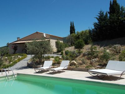 Photo for Beautiful spacious villa in Drôme, with private pool and stunning view