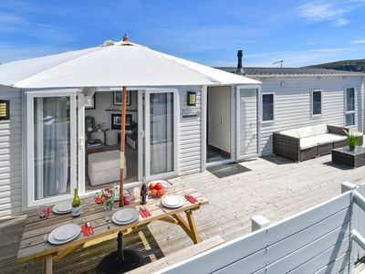 Photo for Stylish throughout, this contemporary chalet on the desirable Crugan holiday park offers a perfect s