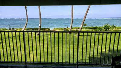 Photo for Economical second floor unit, ocean views and steps to family friendly beach