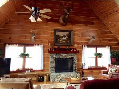 Photo for Mill Hill Farm, Luxury Log Home near Tryon International Equestrian Center