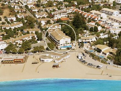 Aerial Photo Showing Apartments near the Beach