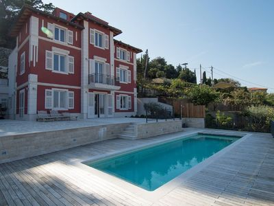 Photo for Detached villa in Piran with private pool, outdoor kitchen and stunning views