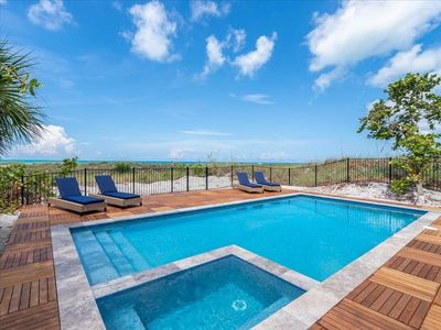 Completely remodeled beachfront home.