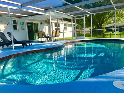 Photo for Pool Home Oasis-- Minutes to Beach!