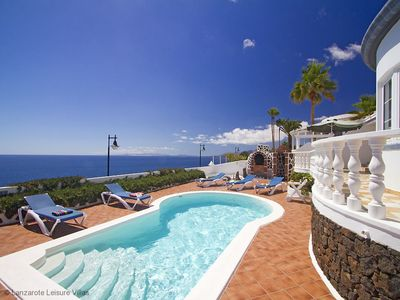 Photo for Luxury Villa el Sueno: detached waterfront stunning panorama, private heated pool A/C SKY WiFi
