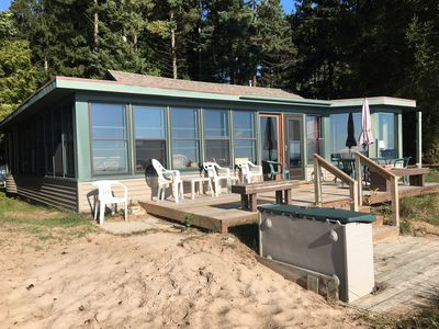 Photo for Lake Michigan Sand Beach & Wooded Privacy
