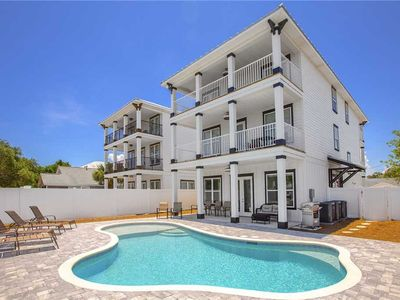 Photo for Shore Thing Getaway - Newly Built, Gulf View, Private Pool, Steps to the Beach!