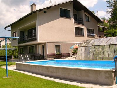 Photo for Cozy apartment near the forest, with pool. Great view from your terrace