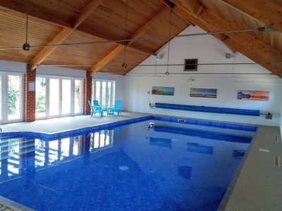 Photo for Half term reduced! Lovely barn nr Cromer. Garden,shared indoor pool &play area