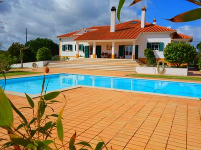Photo for Luxury villa with large garden and total privacy - 1 hour from Lisbon