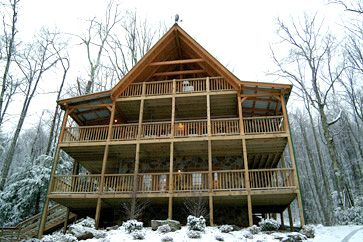 Photo for Private 3 Bedroom Cabin On Mountain Stream Sleeps 10 Hot Tub Jacuzzi Fireplace Pool Table Kitchen