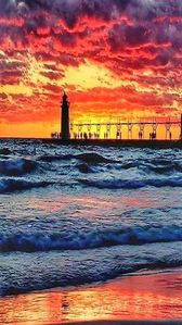 Sunset and SH Lighthouse.  Always a beauty