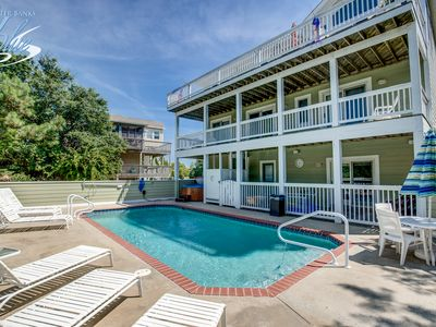 Photo for Sundowner   1600 ft from the beach   Private Pool, Hot Tub