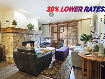Photo for NOW $375/nt!!  3 Minute Walk To The Town Chair Lift & Main Street!!