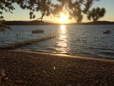 Photo for Beachfront Summer Swims, Winter Ski and Snow, and Sunsets on Lake Sunapee!