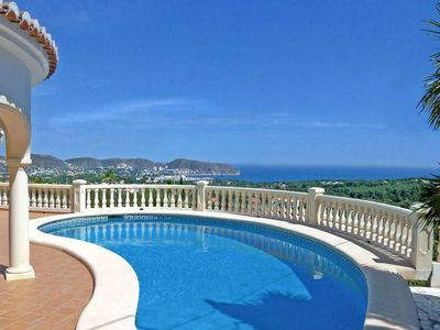 Photo for Bonita - sea view villa with private pool in Moraira