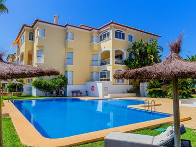 Photo for Jardines del Sol II Apartment, with Pool and Terrace, near the Beach!