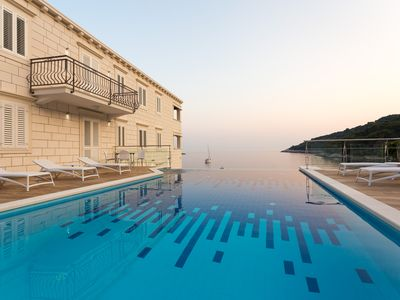 Photo for Luxury beachfront apartments Mljet with infinity pool