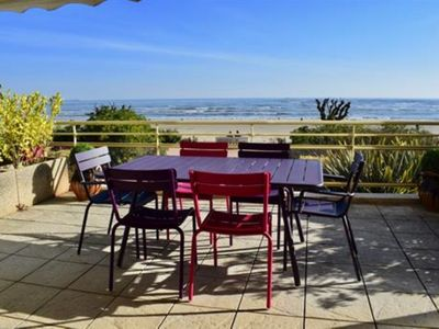 Photo for BEAUTIFUL TYPE 4 WITH LARGE TERRACE FACING SEA BEACH BENOIT