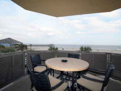 Sandpiper Condos - Unit 201 - Ocean Front Panoramic Views of Tybee Beach - Wi-Fi