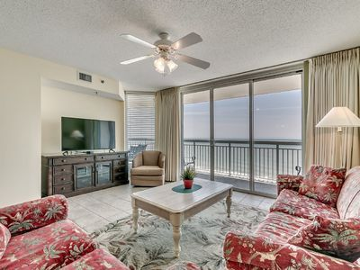 Photo for Crescent Shores 1302, 3 Bedroom Beachfront Condo, Hot Tub and Free Wi-Fi!