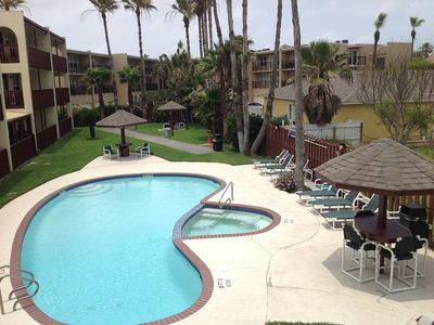 Photo for Second floor condo across the street from beach. Sleeps 6, 2 bedrooms, 2 baths. Shared Pool &jacuzzi
