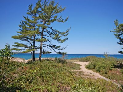 Photo for Comfortable, 1B/1B, Sleeping Bear Bay Beachfront Condo in Glen Arbor!