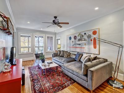 Photo for Charlotte Furnished Apartment in Myers Park-deck and sunporch