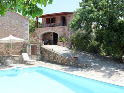 Photo for Characteristic built holiday house with pool, garden, wifi | Rethimno, Crete