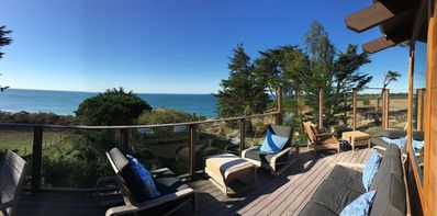 Photo for Ocean views from every room! Great outdoor space, with hot tub and bocce court.
