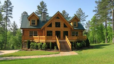 Photo for Beautiful Cabin on 4.5 acres including a stream and lake access.  Summer Booking