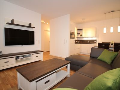 Photo for New apartment for 4 persons with LAN + WLAN, 3xSmart TV, carport
