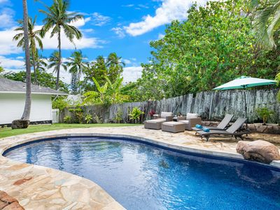 Photo for *10% discount on stays now - 4/17 Lanikai Cottage-Charming Private home w/pool short walk 2beach!