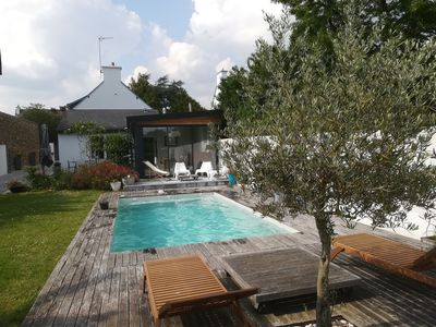 Photo for Stone house with heated pool from May to September